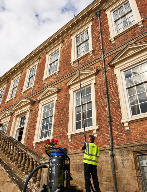 three and four storey gutter cleaning high wycombe